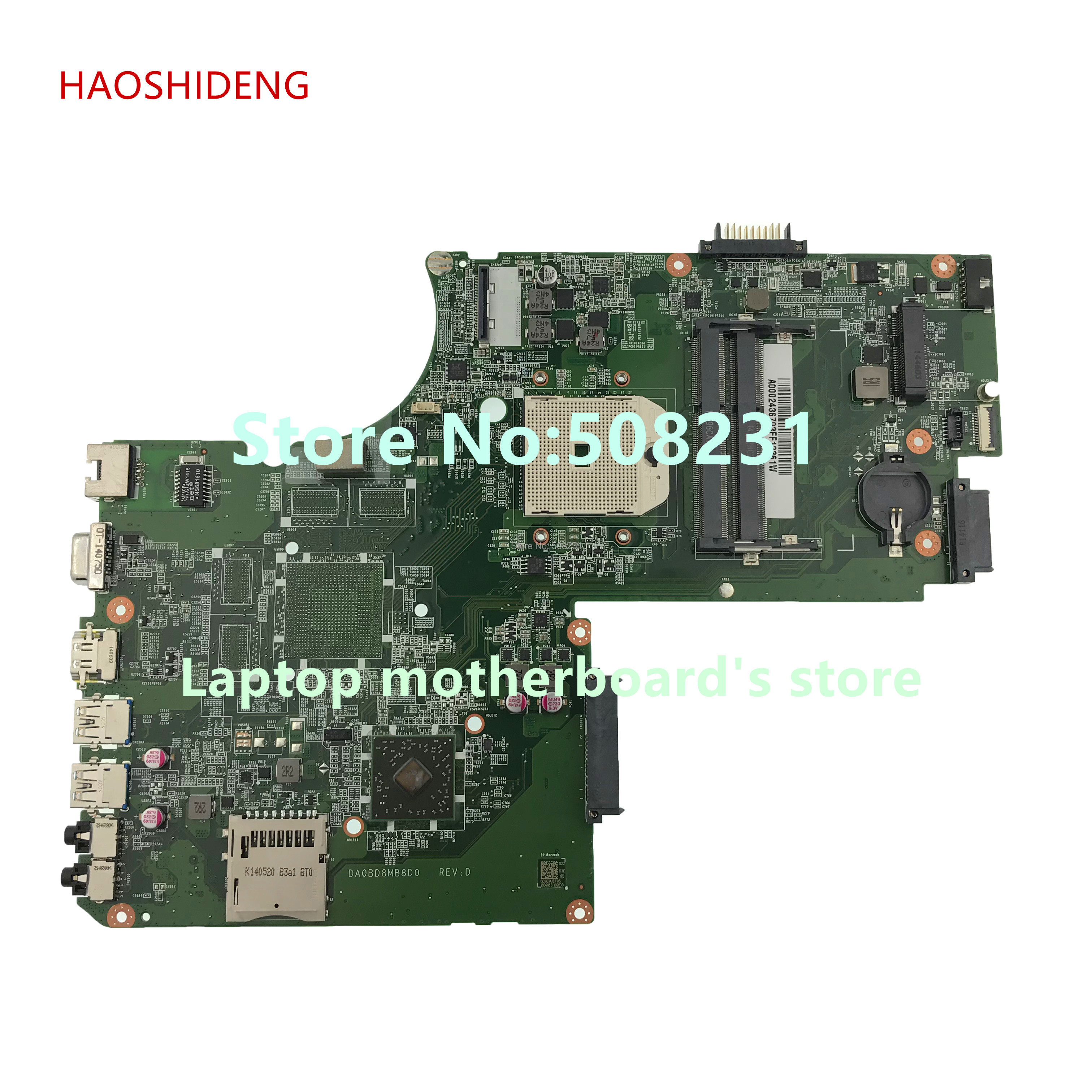 HAOSHIDENG A000243670 DA0BD8MB8D0 mainboard for Toshiba Satellite S70D L70D S75D L75D C70 series Laptop Motherboard fully Tested цена и фото