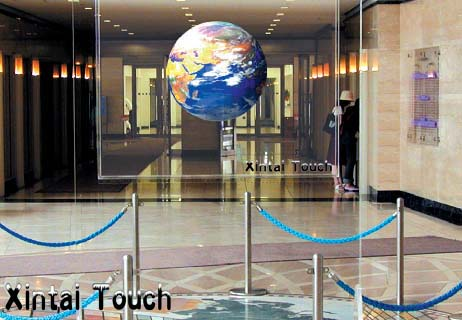 Free Shipping! 1.524M*6M Self adhesive dark gray Transparent Holographic Rear Projection film