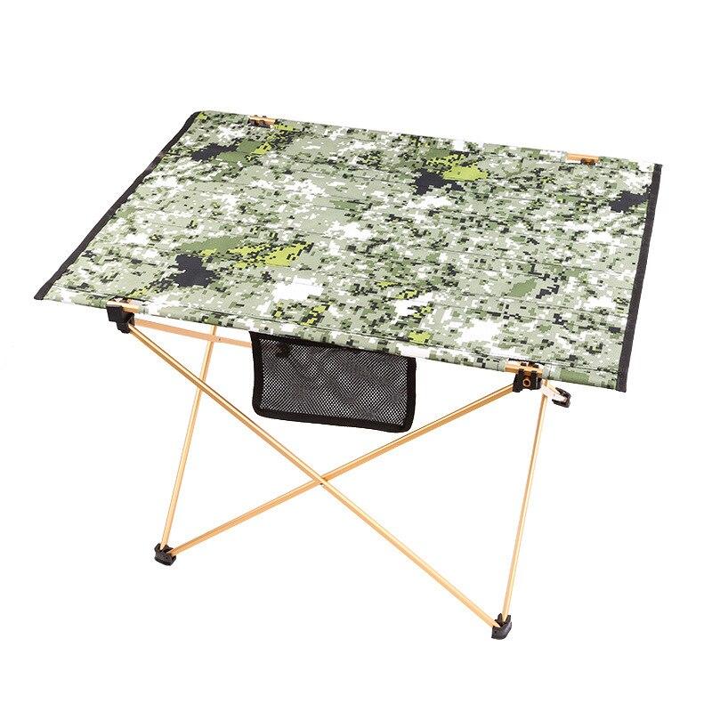 Table de pique-nique en plein air camping table pliante en alliage d'aluminium portable imperméable tissu Oxford ultra léger durable tables Camouflage