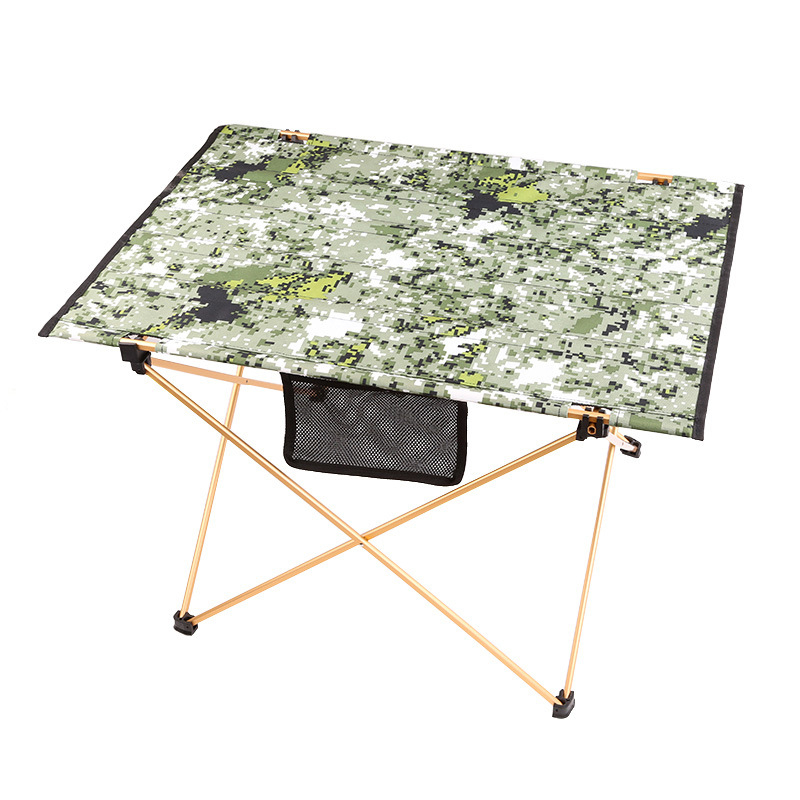 Outdoor picnic table camping portable aluminum alloy folding table waterproof Oxford cloth ultra light durable tables Camouflage aluminum alloy portable outdoor tables garden folding desk with waterproof oxford cloth