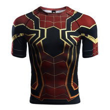 d1da8b67 Raglan Sleeve Spiderman 3D Printed T shirts Men Compression Shirts 2018  Summer NEW Cosplay Costume Tops For Male Fitness Cloth