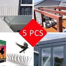 все цены на Plastic Anti Bird and Pigeon Spikes For Rid Bird Pigeon Nails Repeller Stainless Steel Scare Bird Spikes Birds Pest Control 50CM онлайн