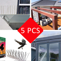 Plastic Anti Bird and Pigeon Spikes For Rid Bird Pigeon Nails Repeller Stainless Steel Scare Bird Spikes Birds Pest Control 50CM
