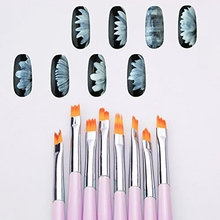 8 Pcs 3D Nail Art Brush Gradient Acrylic Painting Brush Set Gel DIY Flower Petal Drawing  Manicure Brush Tools Nail Tool