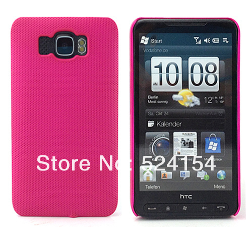 NEW FASHION PLASTIC NET HARD DREAM MESH HOLES SKIN CASE PROTECTOR GUARD COVER FOR HTC HD2  FREE SHIPPING
