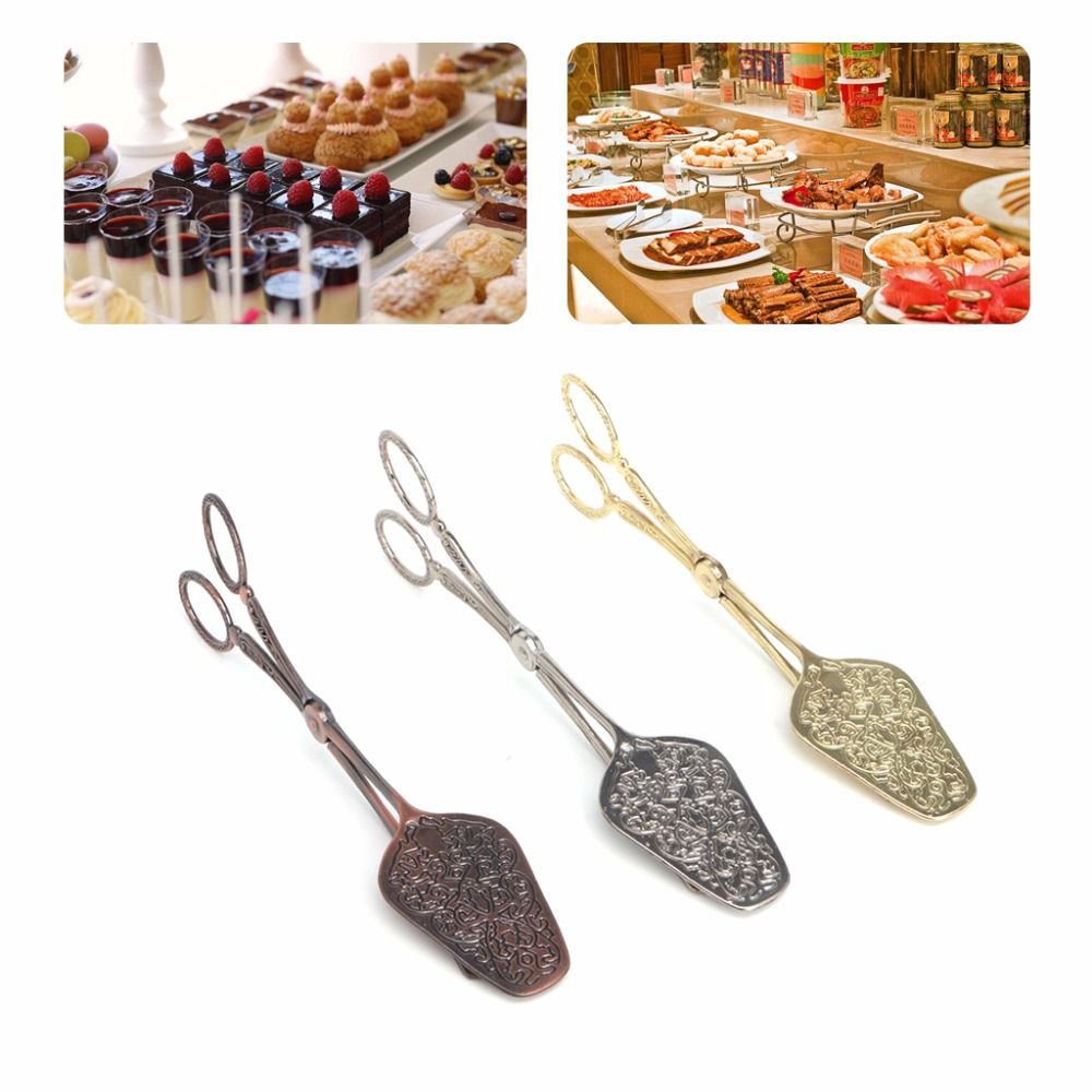 Noble Style Bread Clip BBQ Tong Vegetable Fruit Clips Cake Dessert Pastry Clamp in Other Utensils from Home Garden