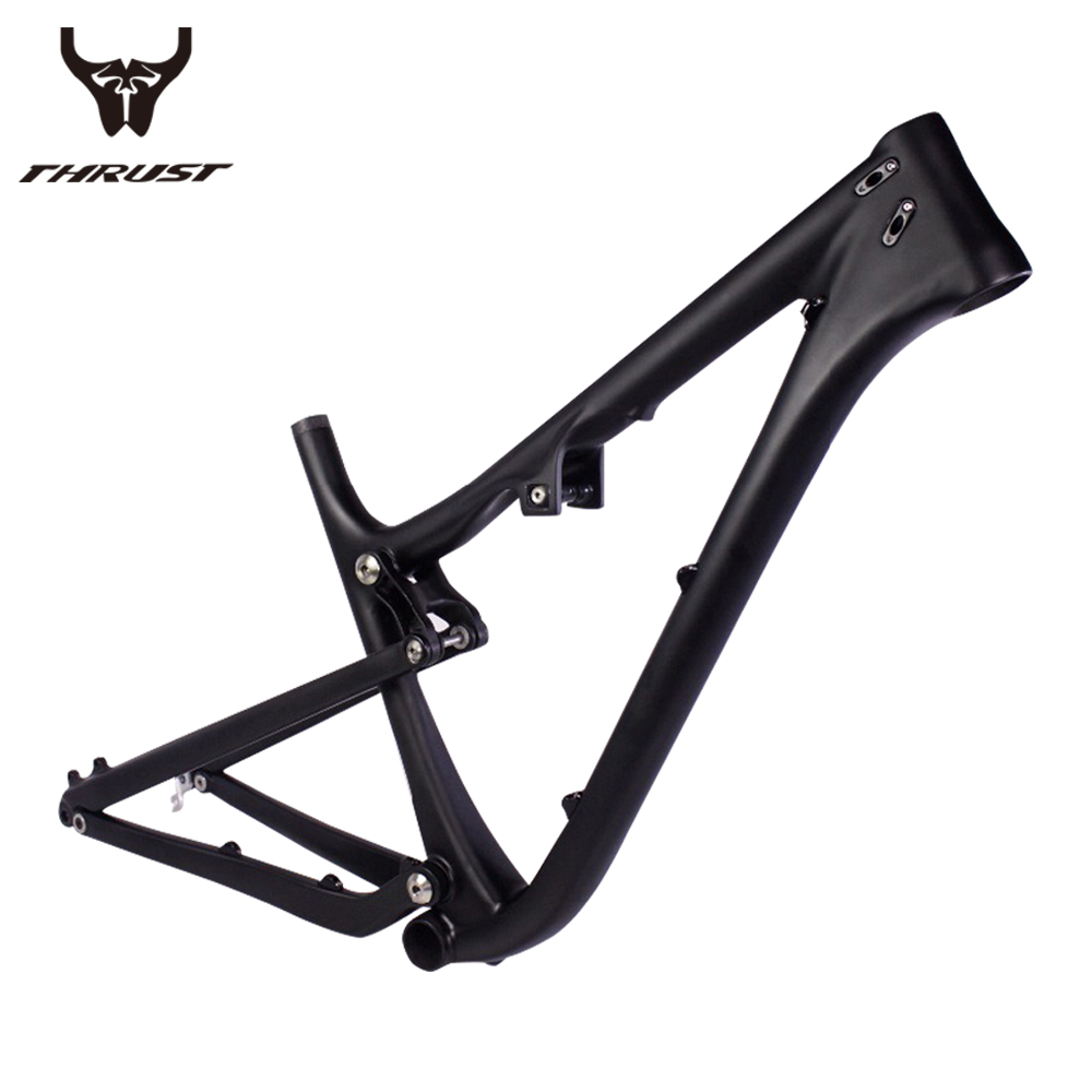 Mountain Bike Carbon Frame 27.5er Full Suspension Frame Carbon Fiber Toray T800 BB92 System Thru Axle Tapered Bicycle Frame Di2 29er full suspension mountain bike toray carbon fiber mtb bicicleta bicycle frame ud matt bb92 165 38mm rear shock travel 110mm