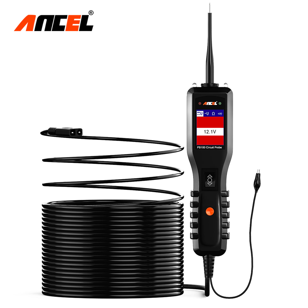 Ancel PB100 Car Battery Tester 12V/24V Power Probe Circuit Tester DC/AC Power Electric Circuit Auto Electrical System Scanner electronics
