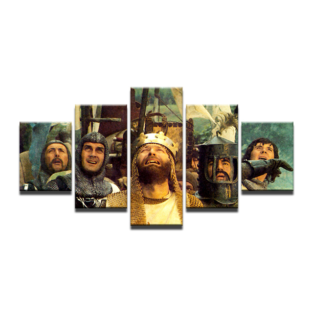 US $9 69 |HD Prints Movie Monty Python and the Holy Grail Canvas Painting  For Living Room Art Oil Home Decor Pictures Poster 5 Pcs-in Painting &