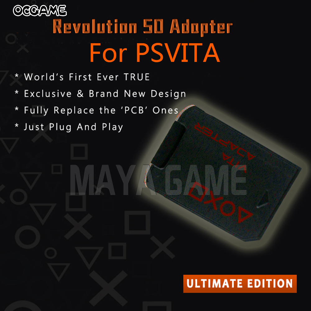OCGAME 2pcs/lot New For <font><b>SD2vita</b></font> tf sd card adaptor adapter <font><b>V3.0</b></font> 5.0 for ps vita for psvita psv 1000 2000 memory game card image