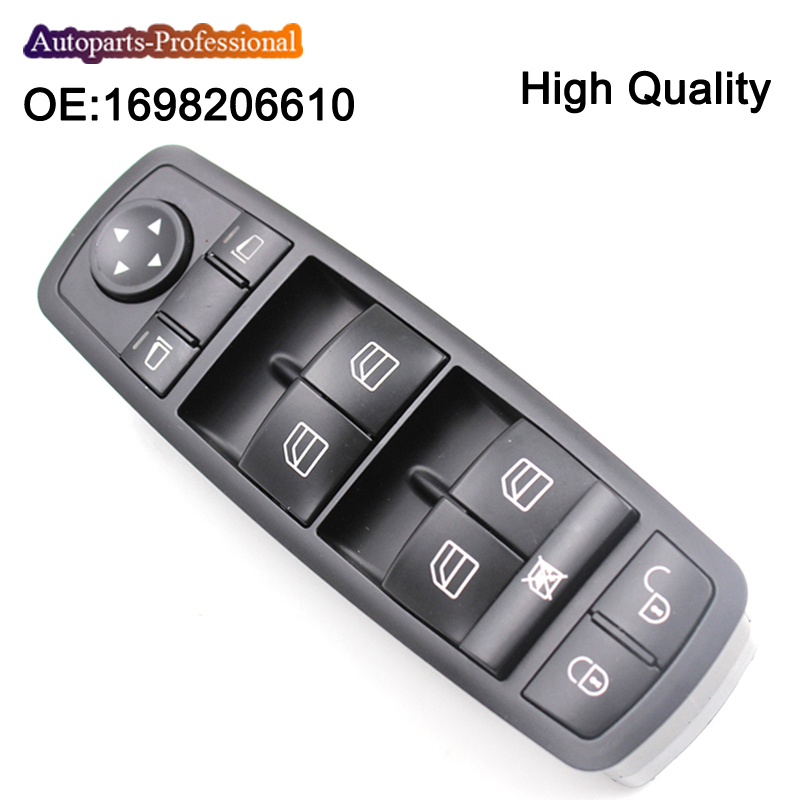 Car Front Left Driver Window Master Switch For Benz A B Class W169 W245 2004-2012 <font><b>A1698206610</b></font> 1698206610 1698206610 Push Button image