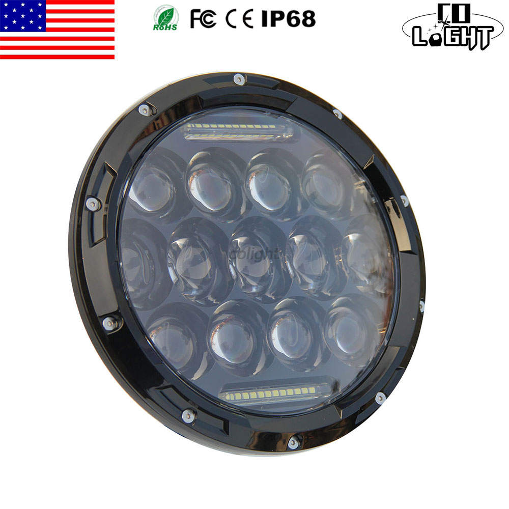ФОТО CO LIGHT 7 INCH ROUND WORKING LIGHT 7'' 75W H4 HIGH LOW BEAM H13 DC 12V 24V FOR OFF ROAD 1997 JEEP WRANGLER JK AUTO CAR STYLING