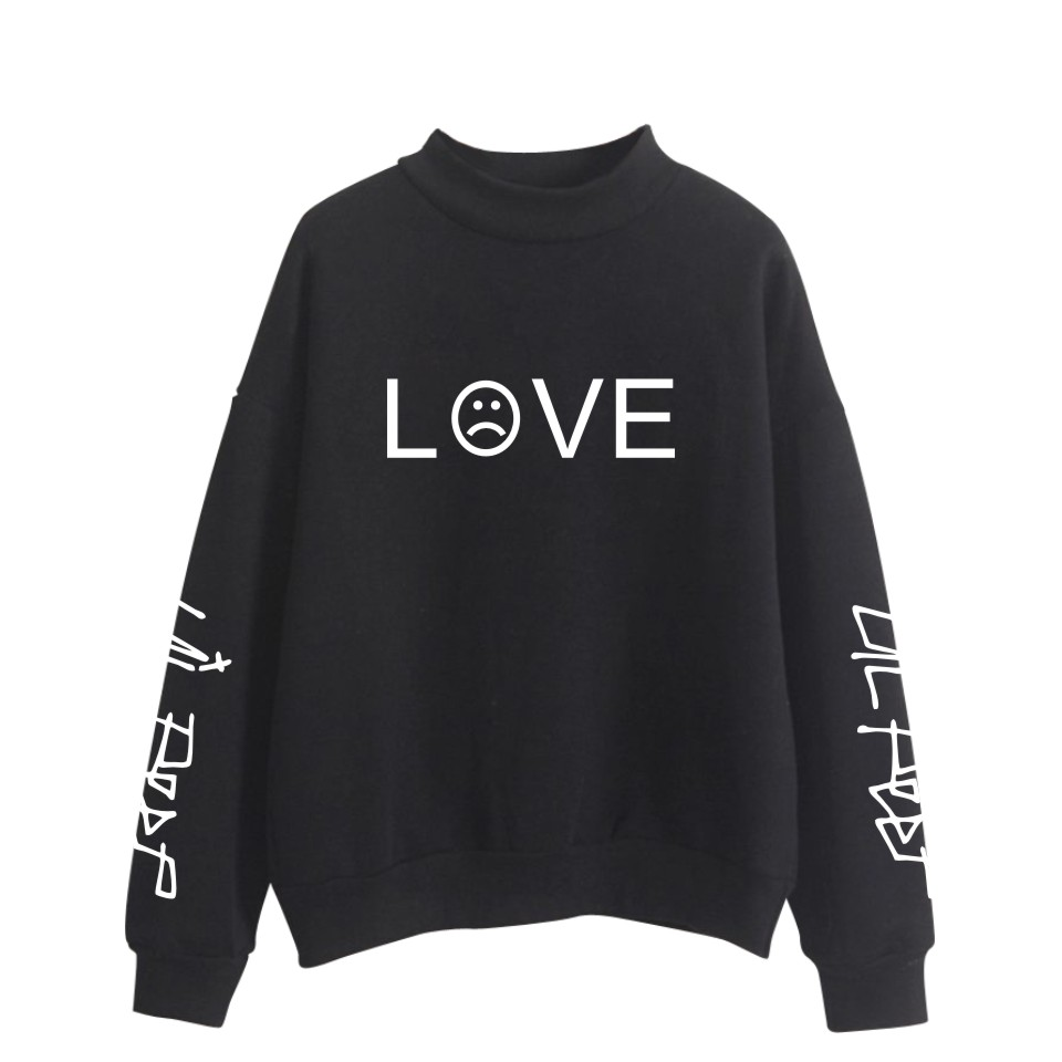 2018 Lil Peep Hip Hop R.I.P. Oversize Turtlenecks Hoodies Sweatshirts Women/Men Hoodies Loose Casual Sweatshirts