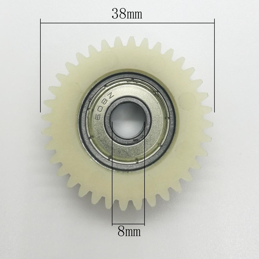 Ingranaggio 3pcs 28teeth 38 millimetri in nylon PA66 Ebike cuscinetto a sfere ad ingranaggi for elettrico del motore della bici Frizione Transimission Cambio Ridurre gli ingranaggi della plastica Ingr