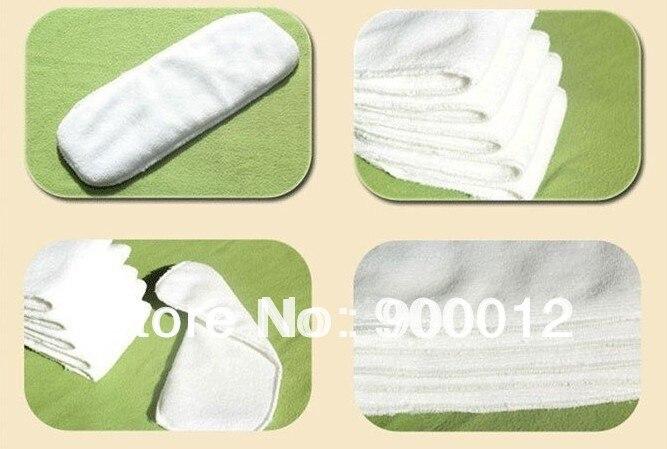 250 pccs Детские Многоразовые моющиеся тканевые подгузники вкладыши для подгузников-3 слоя микрофибры