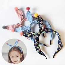Floral Dot Striped Bow Baby Girl Headbands Rabbit Ear Hair Hoop Girls Rabbit Ears Head Hoop Children Headdress Hair Accessories цены