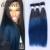 2 Tonos Ombre Azul de Color Armadura Del Pelo Humano Brasileño Recto pelo 3 Paquetes de color Azul O Marrón Ombre Virginal Del Pelo Humano extensiones