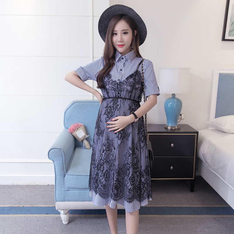 Lace Maternity Dress Embroidery Pregnancy Clothes Fashion Bohemian Cotton Pregnancy Clothing Of Pregnant Women Photo Shoot