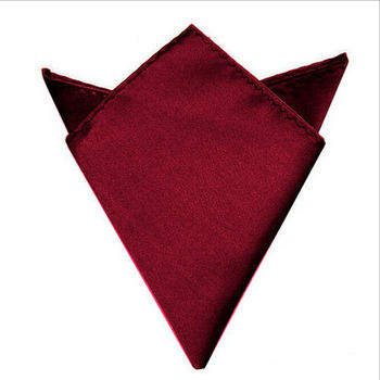 1pc Black,White,Wine Red Satin Silk Men's Pocket Square Hankerchief Hankie Wedding Formal Suit Blaze