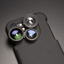 Модные Камера повышения чехол для объектива для iPhone 7 7 Plus для iPhone 6 6 S плюс Дикий-angle «рыбий глаз» макрообъектив телефон чехлы для iPhone 7