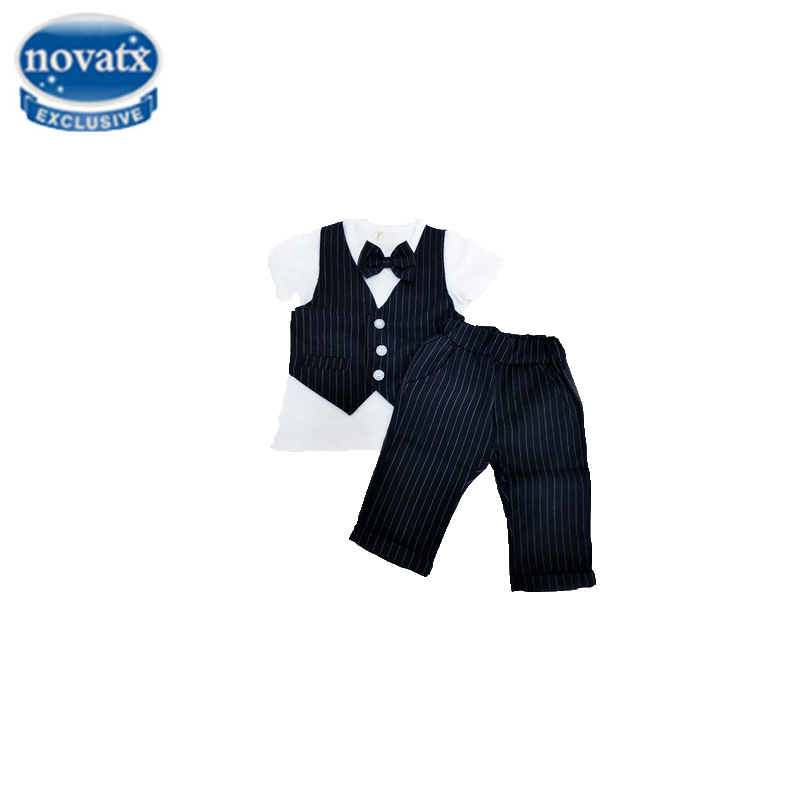 Novatx 2017 infant boy clothes prom suits striped summer boys tuxedo clothing wedding formal formal sets for a child boy KBS058 student performance clothes children clothing sets boys blazers wedding sets pieces boys tuxedo suits