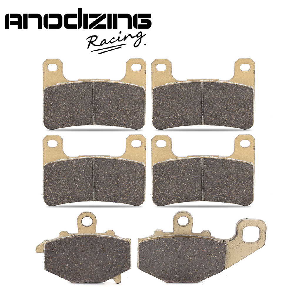 Motorcycle Front and Rear Brake Pads For KAWASAKI ZR1000 Z1000 ABS 2010-2015 starpad motorcycle kawasaki z750 z1000 07 after the brake pads brake pads gold wholesale versatility