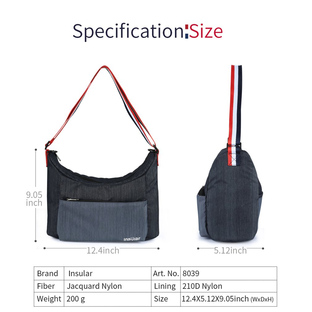 8039 Fashion Shoulder Waterproof Nylon Mummy Bag Large Capacity Maternal And Child Out Shoulder Bags Shoulder Mother Bag in Diaper Bags from Mother Kids
