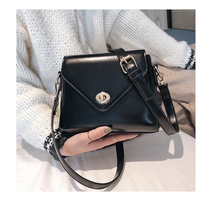 European Fashion Retro Ladies Square bag 2018 New High quality PU Leather Women's Designer Handbag Lock Shoulder Messenger Bags 23