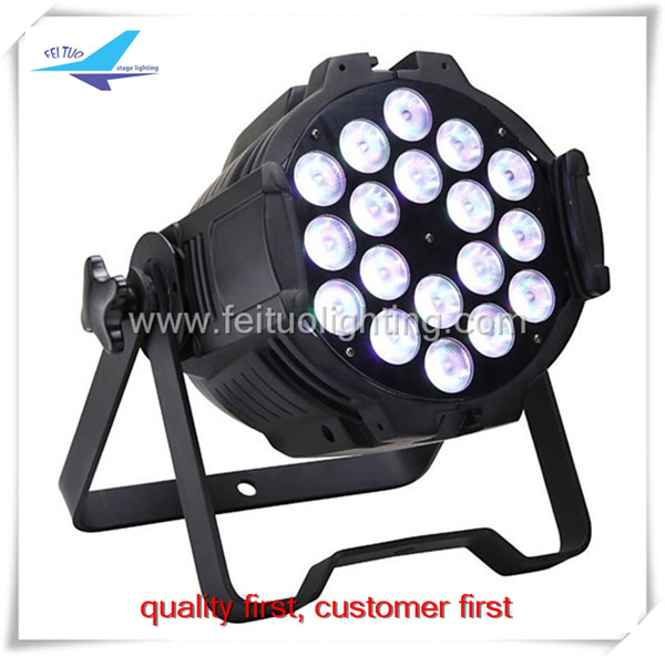A-6/lot LED DMX par light 18x10W RGBW 4in1 led dj par/ led par light 18x10 for stage lighting