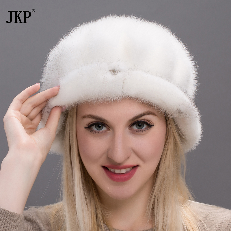 2017 Autumn and winter New Arrival Genuine Fur Mink Fur Hats Whole Mink Fur Women's Luxury Caps Good Quality for RussianDHY17-29