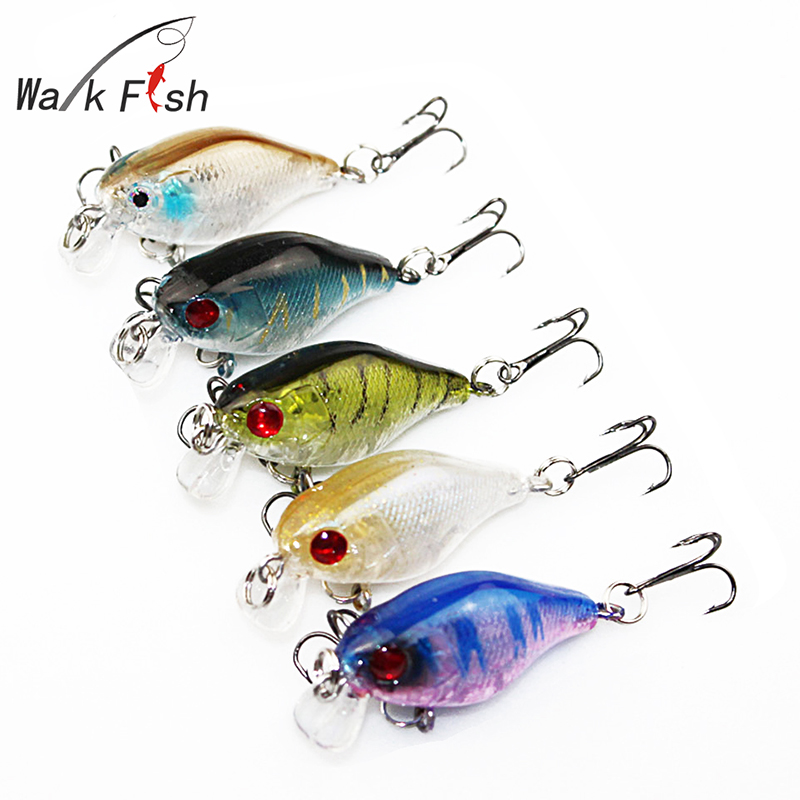 WALK FISH 5Pcs/Lot Fishing Lures Wobbler Minnow 4cm 4.2g Plastic Hard Bait Fishing Tackle Pesca Fish Artificial Lure Swimbait new 12pcs 7 5cm 5 6g fishing lure minnow hard bait sea fishing tackle crankbait fishing kit jig wobbler lures bait with hooks