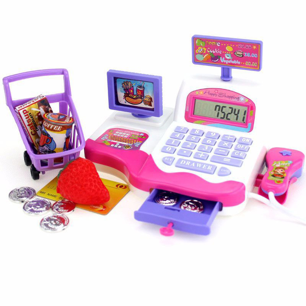 Children Pretend Toy Shopping Electronic Cash Register Realistic Actions & Sound Education Toy Baby Toys & Games Children
