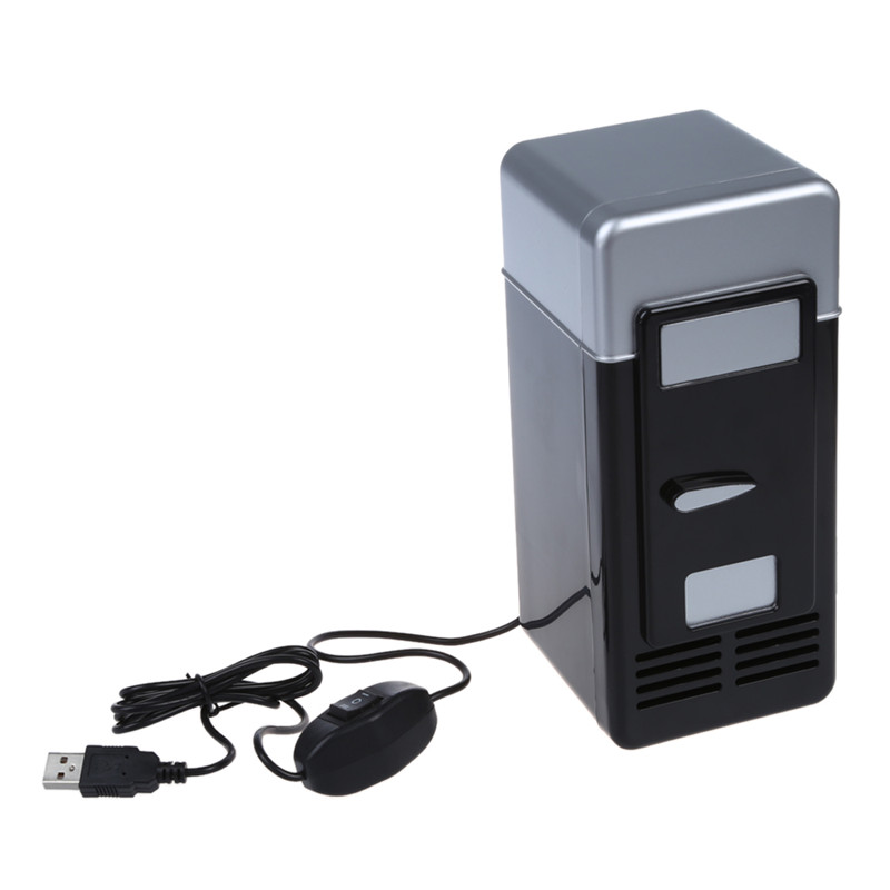 PC USB Mini Refrigerator Fridge Beverage Drink Can Cooler Warmer