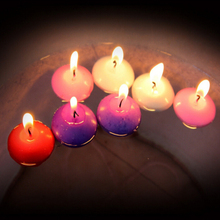 10pcs set small batch unscented multicolor floating candles romantic wedding birthday party home decoration creative