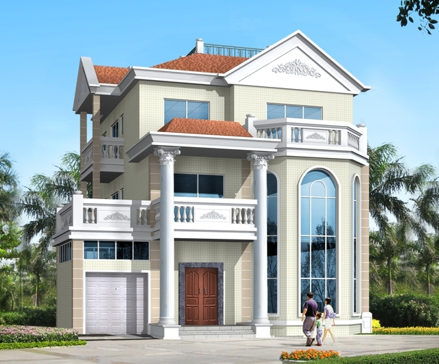 13.3m * 14.6m / European style and French style villa design ... on french luxury homes, italian villa style homes, portuguese villa style homes, tuscan style homes, mexican villa style homes, mediterranean villa style homes, coastal cottage style homes,