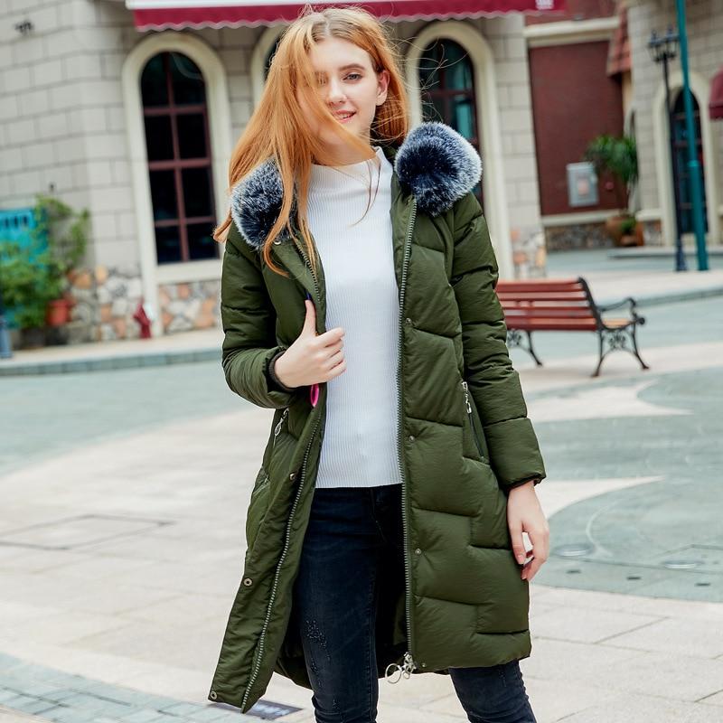 Женские зимние куртки с карманами, однотонные меховые ватные парки с капюшоном, женские зимние куртки, верхняя одежда для студентов, большие размеры - Цвет: army green