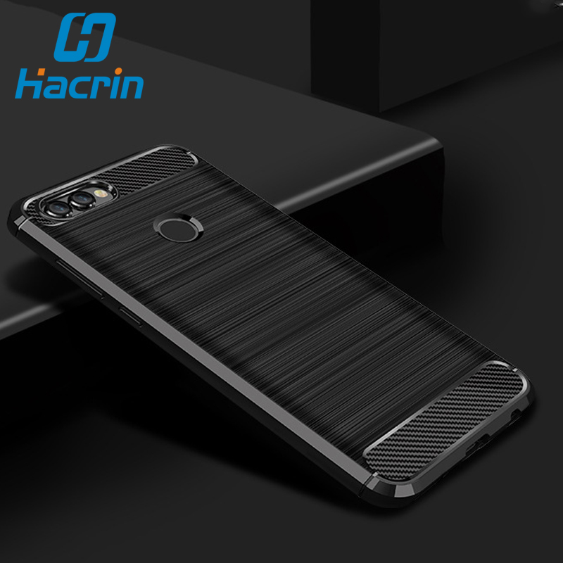 Huawei P Smart Case Cover P Smart TPU Silicone Bumper Anti-Shock Soft Carbon Fiber Phone Cases Cover For Huawei P Smart/Enjoy 7S