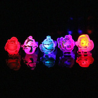 Multi Style LED Flashing Finger Rings Light Up Blinking Jelly Rings Kids Adults Glow Party Supplies Christmas