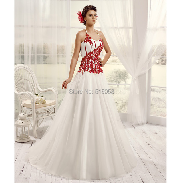 Vintage Wedding Dresses Red: Vintage Victorian Gothic Style Lace Appliques Sweetheart