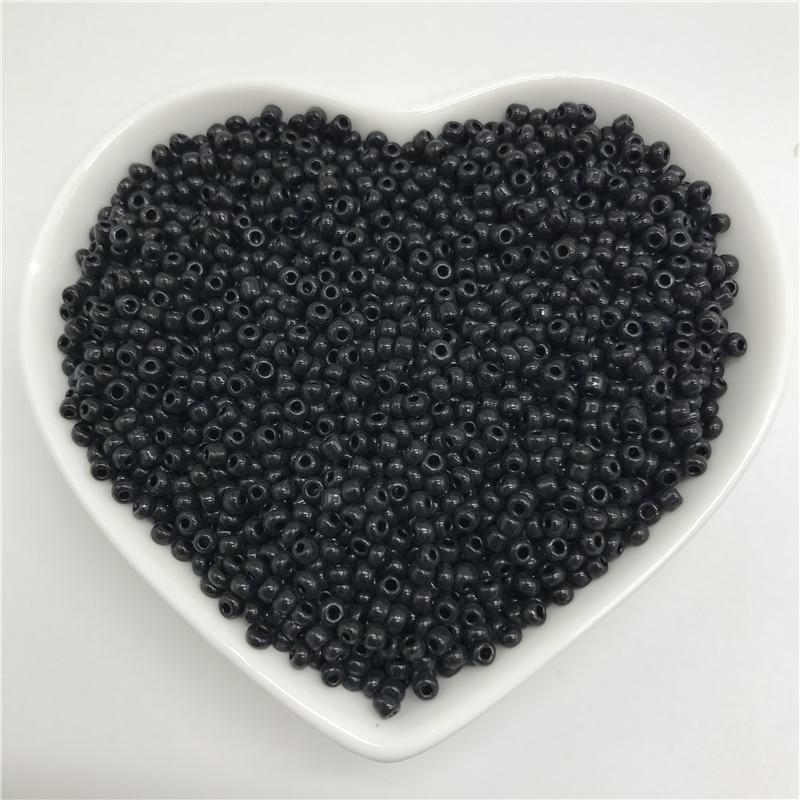 2 мм 3 мм 4 мм черные бусины из чешского стекла с шармами для изготовления ювелирных украшений, аксессуары для браслетов, ожерелий