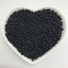 2mm 3mm 4mm preto charme checa contas de semente de vidro para fazer jóias diy pulseira colar acessórios