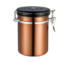 Metal Storage Food Bottles Sugar Tea Coffee Beans Canisters snack Cans Tools with Exhaust valve