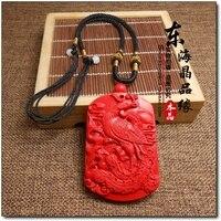 Natürliche zinnober nichtig Tibetischen Bodhisattva Anhänger ist eine kuh tiger mönch Buddha zinnober acht schutzpatron tag männlichen und weiblichen mod-in Kette Halsketten aus Schmuck und Accessoires bei