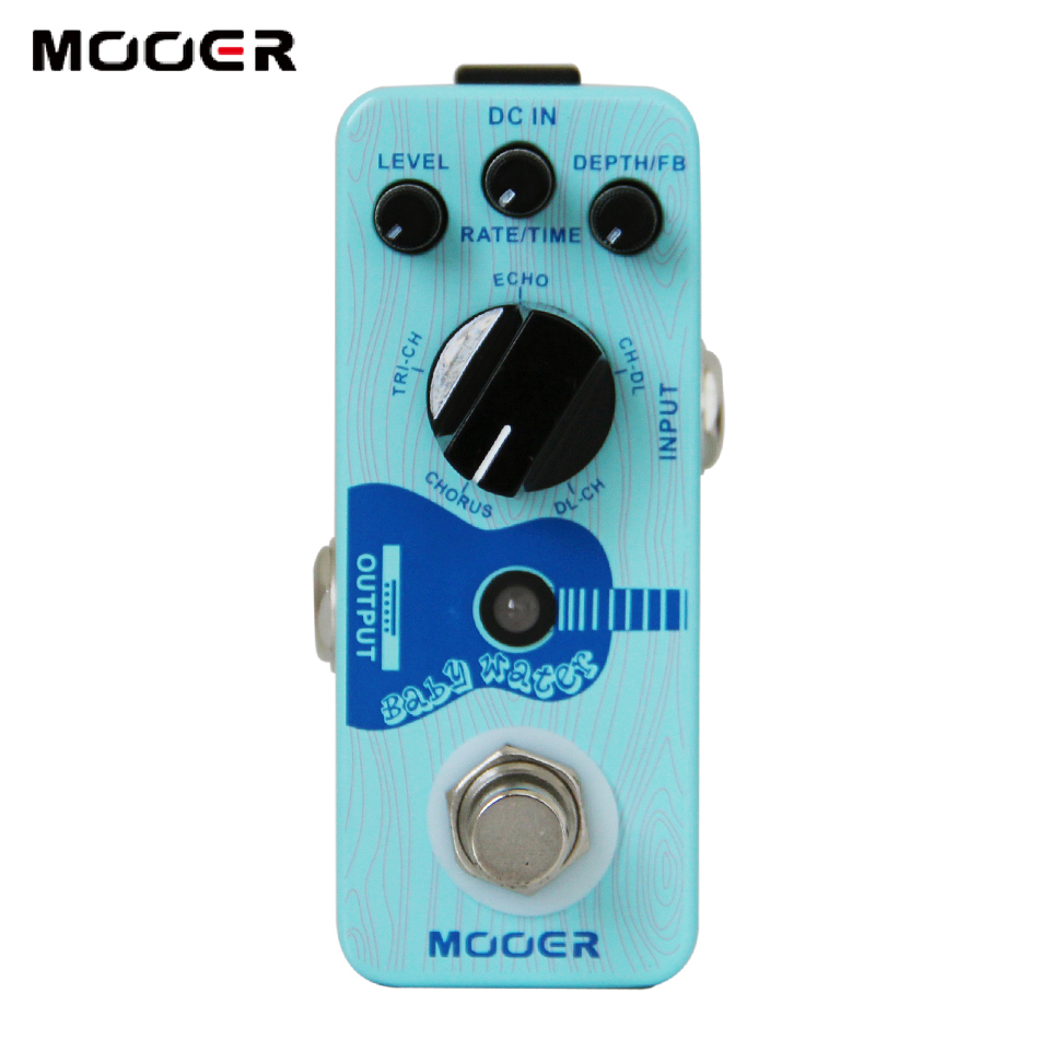 MOOER Baby Water Acoustic Guitar Delay & Chorus Pedal with Perfect Digital Effect Platform NEW mooer single acoustic delay chorus effects true bypass baby water effect guitar pedal