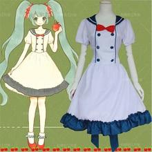 Vocaloid hatsune miku cosplay traje de halloween bowknot lolita dress envío gratis
