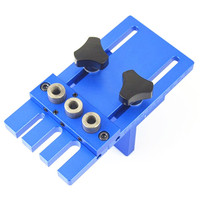 Woodworking Tool DIY Woodworking Joinery High Precision Dowel Jigs Kit Drilling Locator Drilling Guide Kit