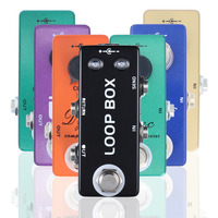 SOACH Compressor Overdrive Looper Effect Pedal Electric Guitar Preamp Full Metal Shell True Bypass Guitar Parts accessories
