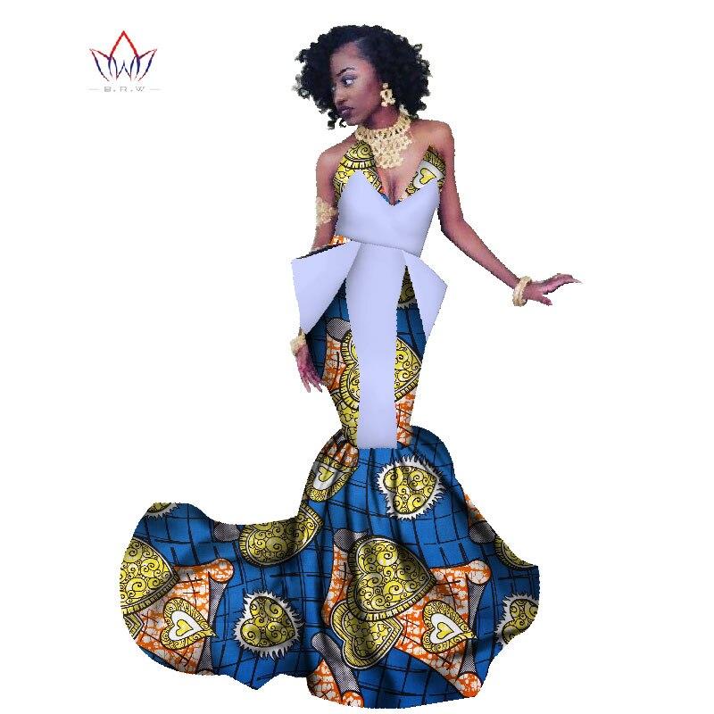 African Print Fancy Maternity Dresses: 2017 Summer Africa Dress For Women Mermaid Long Dresses