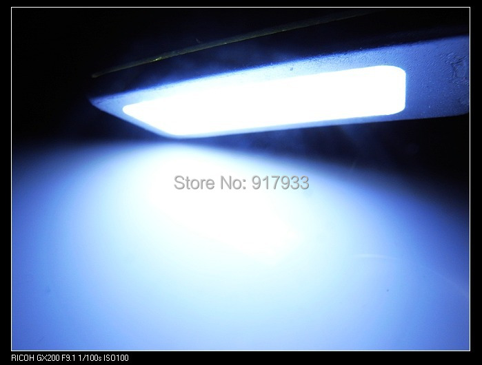 2X 4W Panel Reading Interior Light Adapter Dome T10 194 W5W Bulb LED Car COB 21 Chip Festoon 12V White with Aluminum Shell g4 4w 380lm 3000k ac 12v led cob car bulb cabinet dome light soft white