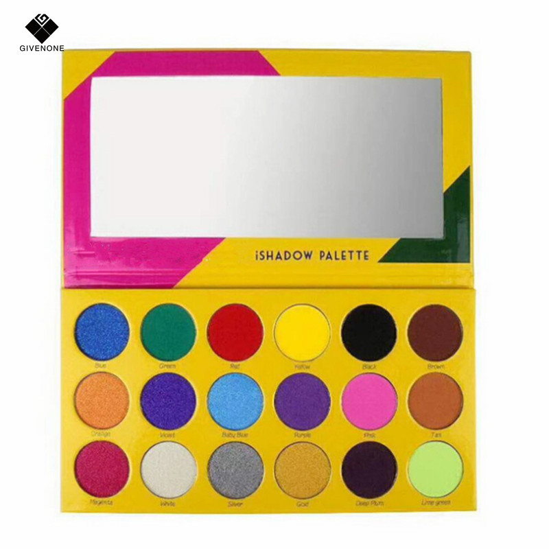 GIVENONE Brand New Makeup Long-lasting Eye Shadow Easy to Wear Eyeshadow Natural Matte Shimmer palette 18 Colors